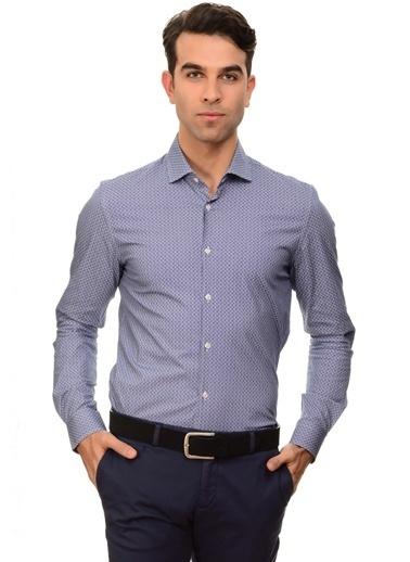 Cotton Bar Gömlek Lacivert